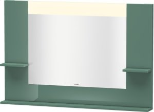 Mirror With Shelves To The Side And Below, Jade High Gloss Lacquer Product Image
