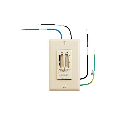 Dual Slide Control Fan and Light Ivory