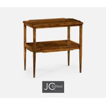 Country Walnut Side Table