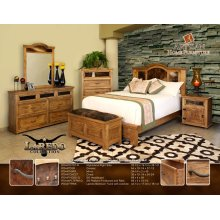 Bedroom Trunk w/ cowhide