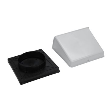 "Surface Wall Cap Damper - 5"" Round Duct"