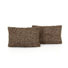 "16x24"" Size Stone Braided Pillow, Set of 2"