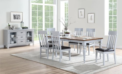 Emerald Home D494-20 Cliff Haven Dining Chair, Gray Mist