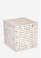 (LS) Cassy Stool-WH (16.5x16.5x16.5) Product Image