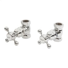 "Gun Metal 3/4"" Shut off valves for 3-196 and 3-226 (1 pair hot & cold)."