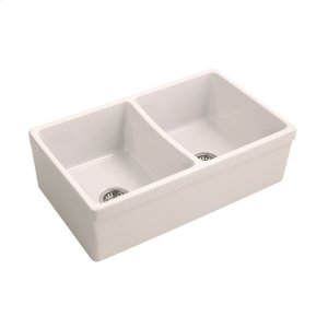 "Lettie Double Bowl Farmer Sink - 33"" - Bisque Product Image"