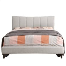 """Rimo 54"""" Bed in Beige"""