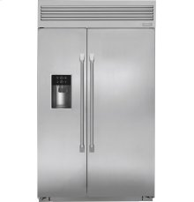 """Monogram 48"""" Built-In Professional Side-by-Side Refrigerator with Dispenser"""