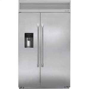 "MonogramMonogram 48"" Built-In Professional Side-by-Side Refrigerator with Dispenser"
