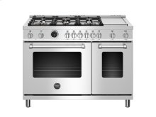 48 inch 6-Burner+Griddle, Electric Self-Clean Double oven Stainless