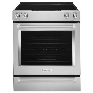 Kitchenaid30-Inch 5-Element Electric Slide-In Convection Range - Stainless Steel