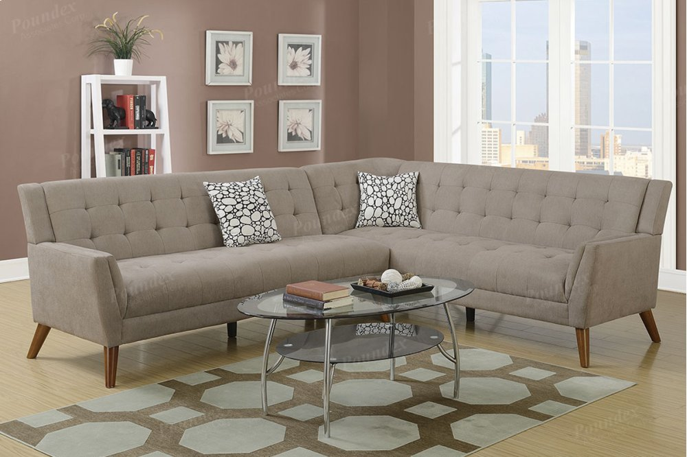 f6885 in by poundex in jacksonville fl 2 pcs sectional sofa rh just4rooms com Pit Sectional Sofa Seattle Sectional