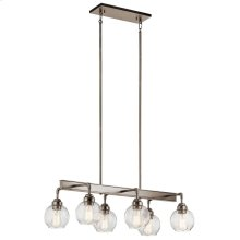 Niles 6 Light Linear Chandelier Antique Pewter