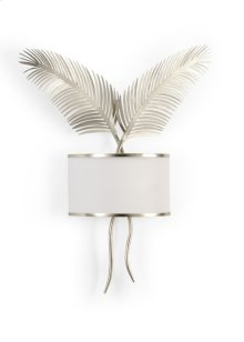 Double Palm Sconce - Silver
