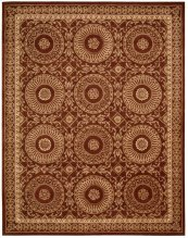 VERSAILLES PALACE VP50 BRICK RECTANGLE RUG 7'6'' x 9'6''