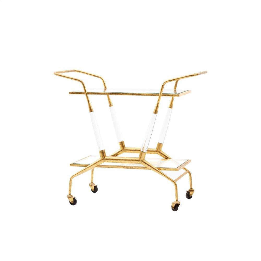 Jepson Bar Cart, Gold