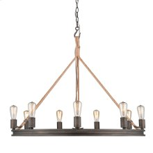 Chatham 9 Light Chandelier in Gunmetal Bronze