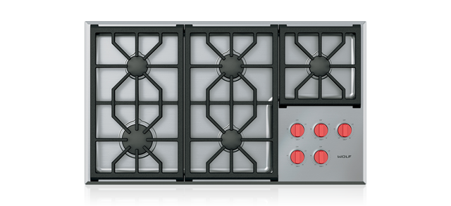 "Wolf36"" Professional Gas Cooktop - 5 Burners"