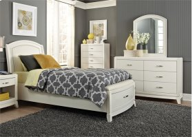 Full Storage Bed, Dresser & Mirror