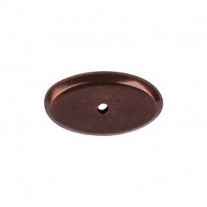 Aspen Oval Backplate 1 3/4 Inch - Mahogany Bronze