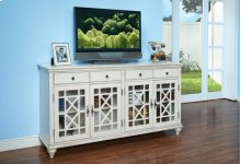 MARCELINE 4 DRAWER 4 DOOR ACCENT-ANT WHITE