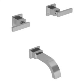 Biscuit Wall Mount Tub Faucet