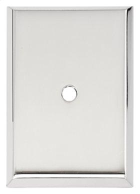 Traditional Backplate A610-38 - Polished Chrome