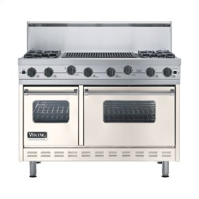 "Oyster Gray 48"" Sealed Burner Range - VGIC (48"" wide, four burners 24"" wide char-grill)"
