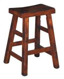 Santa Fe Saddle Seat Stool/wooden Seat