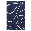 Therese Abstract Swirl 5x8 Area Rug in Navy and Ivory Product Image