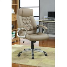 Transitional Taupe Office Chair