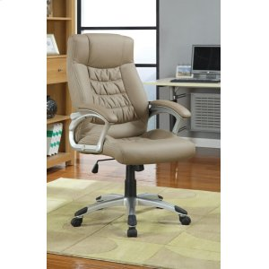 CoasterTransitional Taupe Office Chair