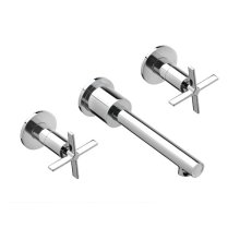 Percy Wall-Mounted Vessel Faucet with Cross Handles - Polished Chrome