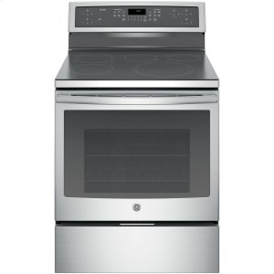 "GE ProfileSeries 30"" Free-Standing Convection Range with Induction"