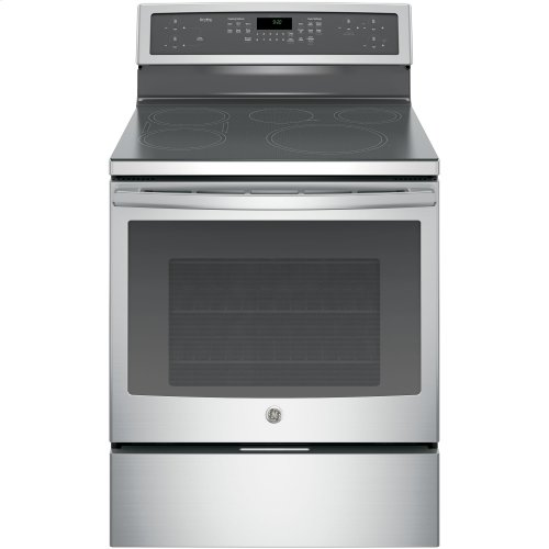 "GE Profile™ Series 30"" Free-Standing Convection Range with Induction"