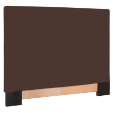 Twin Slipcovered Headboard Sterling Chocolate Product Image