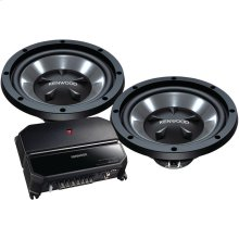"12"" Bass Party Pack (KAC-5207 2-Channel Amp & 2 KFC-W112S Subwoofers)"