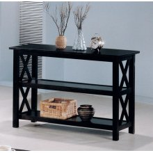 Merlot Double Shelf Sofa Table