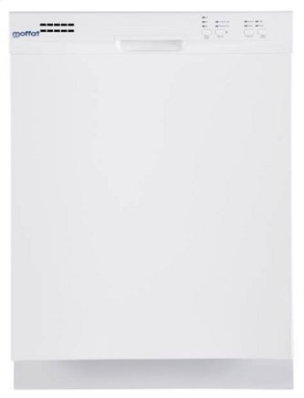 MDF400SGFWW - White on White Moffat Built-In Dishwasher Stainless Steel Tub
