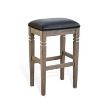 "30""H Pinehurst Stool w/ Cushion Seat"