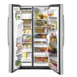 Ge(r) 25.1 Cu. Ft. Fingerprint Resistant Side-By-Side Refrigerator