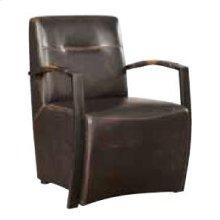 Industrial Antique Espresso Accent Chair