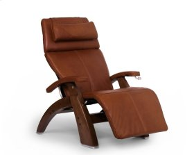 Perfect Chair PC-420 Classic Manual Plus - Cognac Premium Leather - Walnut