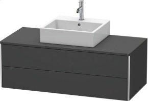 Vanity Unit For Console Wall-mounted, Graphite Matt (decor)