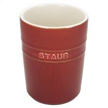 Staub Ceramics Utensil Holder, Rustic Red