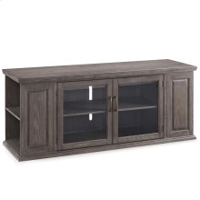 """Gray Washed Oak 62"""" TV Stand with Bookcase Ends #84162"""