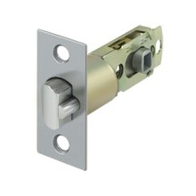 Square Latch Adj. Entry - Brushed Chrome