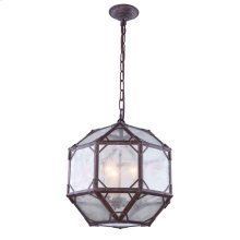Gordon Collection 3-Light Saddle Rust Finish Pendant