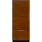 """Integrated Built-In Bottom-Freezer Refrigerator, 36"""", Custom Overlay Left Hand Door Swing Product Image"""