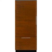 """Integrated Built-In Bottom-Freezer Refrigerator, 36"""", Custom Overlay Left Hand Door Swing"""